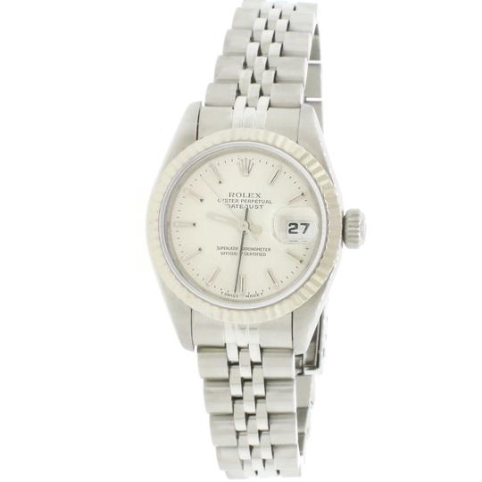 Rolex Ladies Rolex Stainless Steel Datejust Silver 69174 Image 1