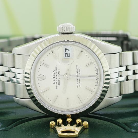 Rolex Ladies Rolex Stainless Steel Datejust Silver 69174 Image 2