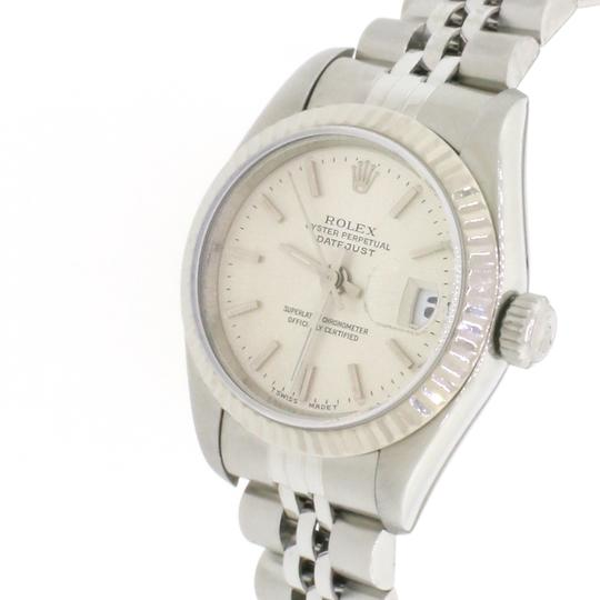 Rolex Ladies Rolex Stainless Steel Datejust Silver 69174 Image 6
