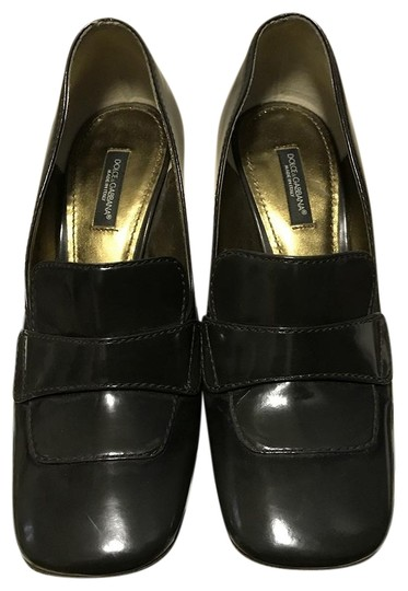 Preload https://img-static.tradesy.com/item/23925717/dolce-and-gabbana-dark-green-d-and-g-patent-leather-loafer-style-pumps-size-eu-37-approx-us-7-regula-0-1-540-540.jpg