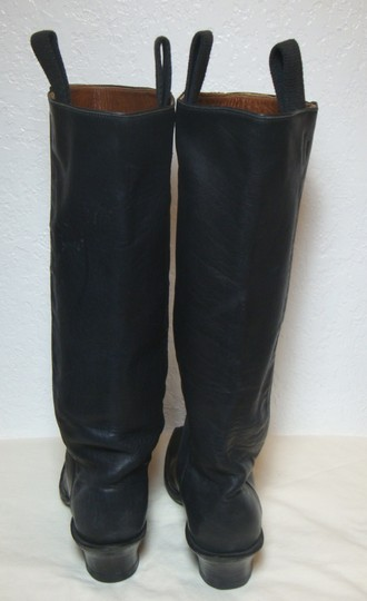 custom made Equestrian Motorcycle Tall Black Boots Image 1
