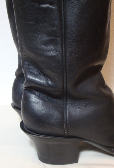 custom made Equestrian Motorcycle Tall Black Boots Image 2