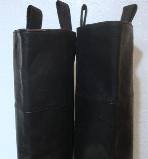 custom made Equestrian Motorcycle Tall Black Boots Image 3