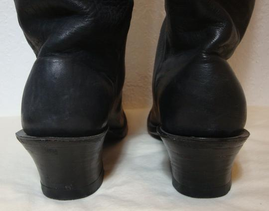 custom made Equestrian Motorcycle Tall Black Boots Image 4