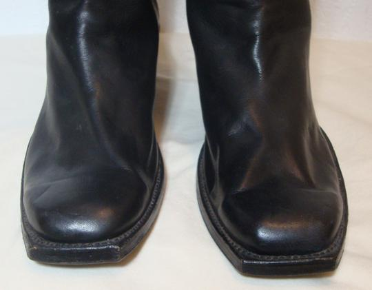 custom made Equestrian Motorcycle Tall Black Boots Image 5