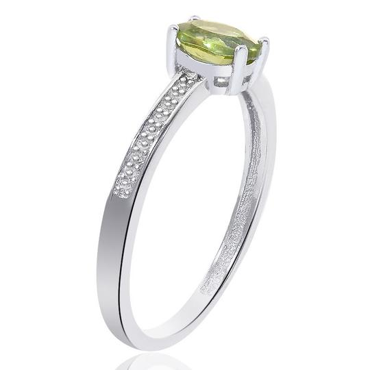 Avital & Co Jewelry Sterling Silver Peridot Diamond Accent Ring Image 1