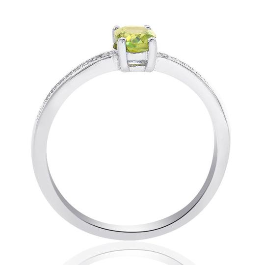 Avital & Co Jewelry Sterling Silver Peridot Diamond Accent Ring Image 2
