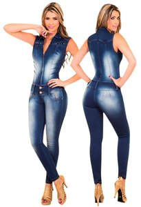 Colombian Jumpsuits Skinny Jeans-Medium Wash