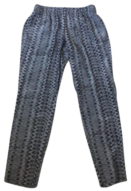 Item - Black Grey Silk Print Lounge Pants Size 0 (XS, 25)