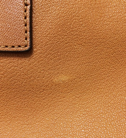 MICHAEL Michael Kors Leather Chain Satchel in Luggage Image 9