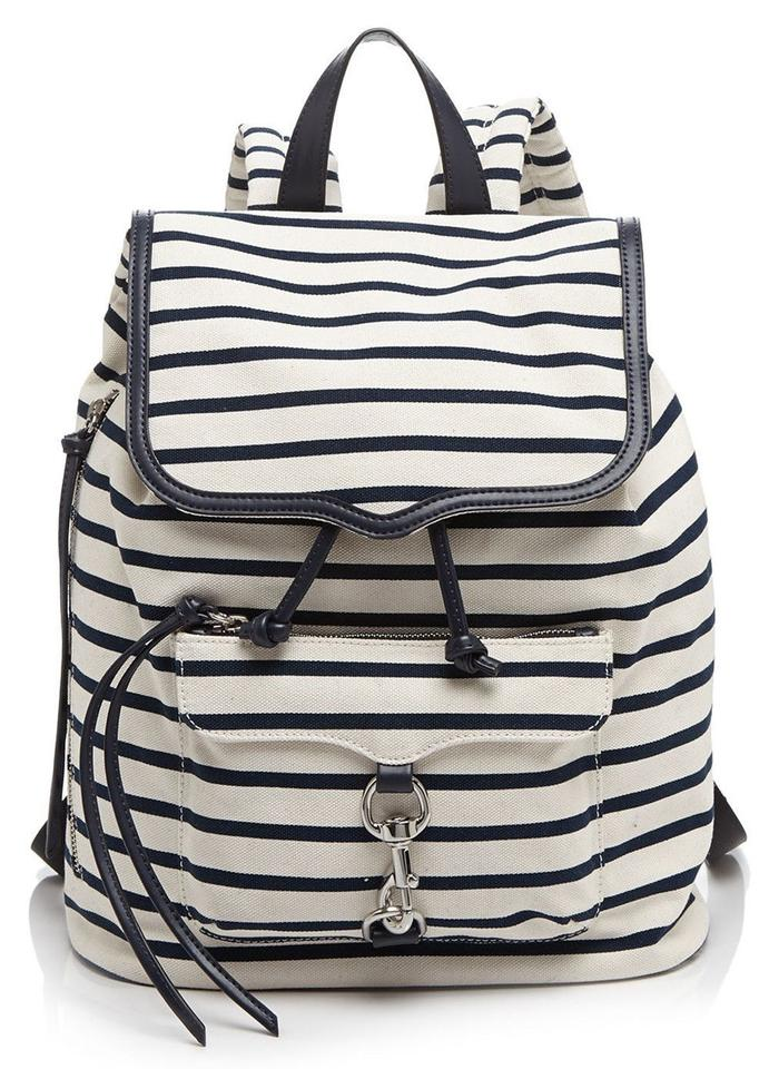 Minkoff Navy Backpack Bikeshare Natural Rebecca Canvas 61w0pq1A