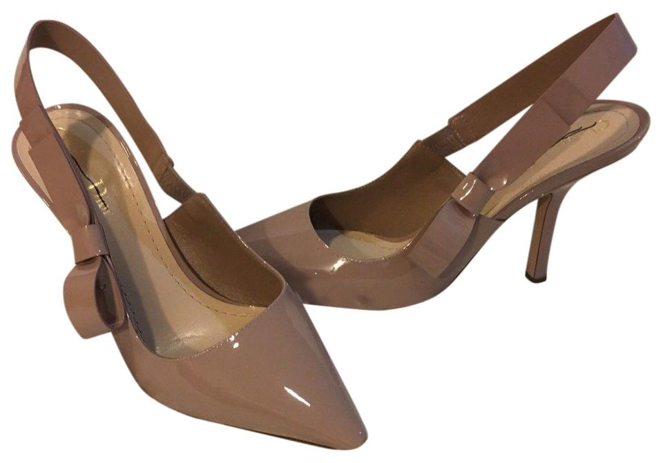 Dior Nude D Patent Leather Sweet D Nude Slingback Bow Pumps 1d2a0c