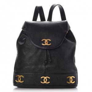 Chanel Vintage Caviar Triple Cc Backpack
