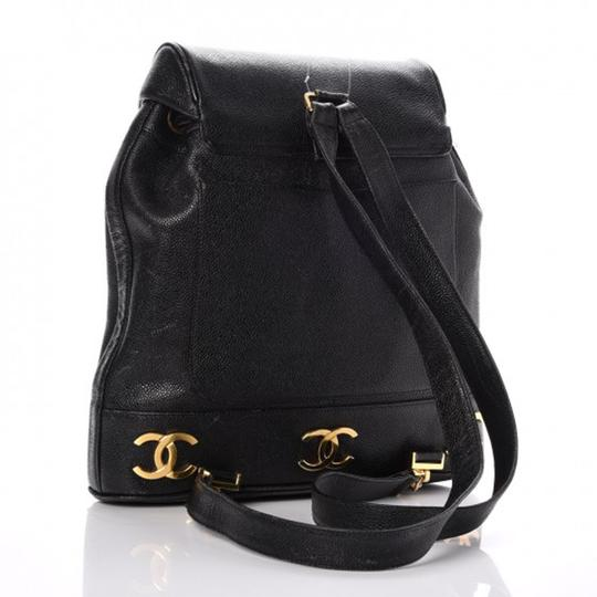 Chanel Vintage Caviar Triple Cc Backpack Image 1
