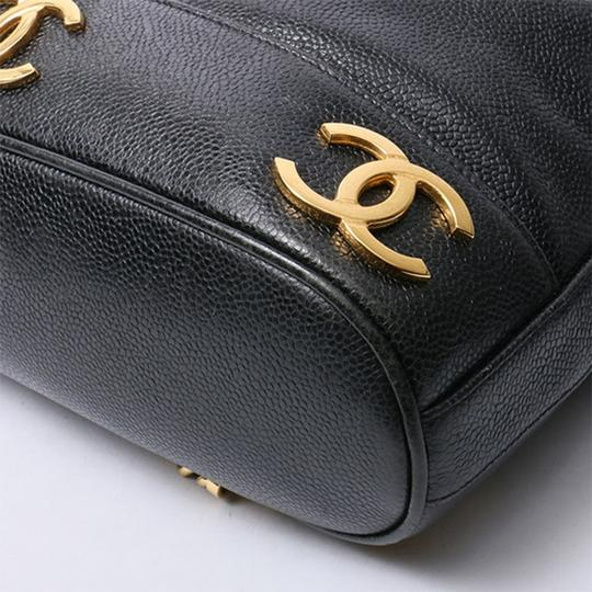 Chanel Vintage Caviar Triple Cc Backpack Image 3