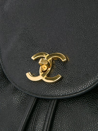 Chanel Vintage Caviar Triple Cc Backpack Image 4