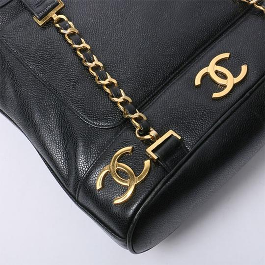 Chanel Vintage Caviar Triple Cc Backpack Image 5