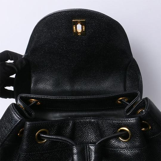 Chanel Vintage Caviar Triple Cc Backpack Image 6
