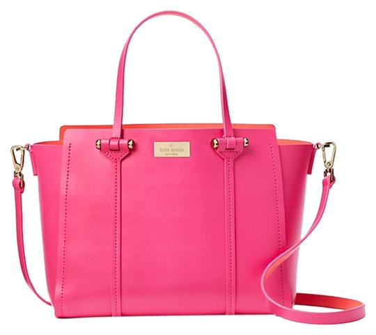 Preload https://img-static.tradesy.com/item/23926191/kate-spade-arbour-hill-alston-papaya-pink-leather-satchel-0-1-540-540.jpg