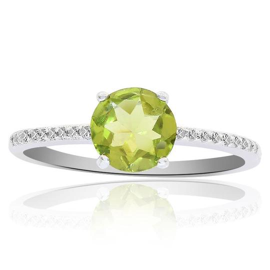 Preload https://img-static.tradesy.com/item/23926212/avital-and-co-jewelry-white-sterling-silver-peridot-diamond-accent-ring-0-0-540-540.jpg