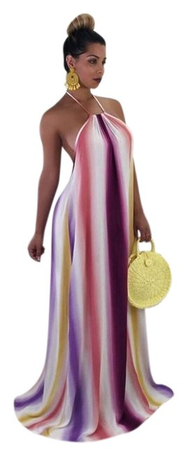 Preload https://img-static.tradesy.com/item/23926310/multicolor-bohemian-halter-open-back-long-casual-maxi-dress-size-8-m-0-1-650-650.jpg