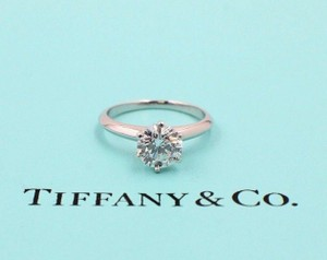 Tiffany & Co. D Vs1 Diamond Round 1.39 Cts Platinum Papers Engagement Ring