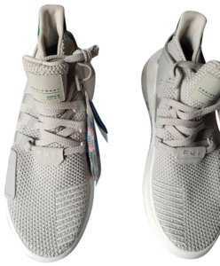 adidas Grey with pop of color at the heels Athletic