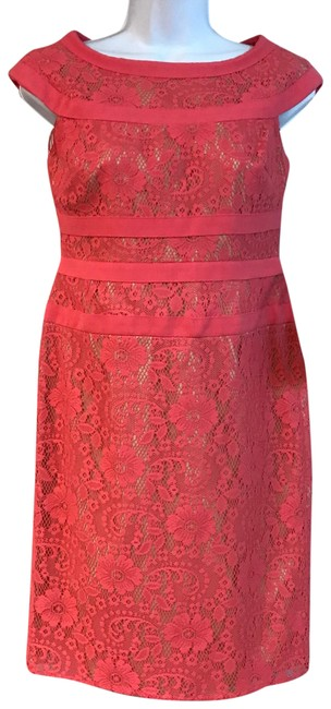 Preload https://img-static.tradesy.com/item/23926380/adrianna-papell-pink-lace-sheath-4p-short-night-out-dress-size-petite-4-s-0-1-650-650.jpg