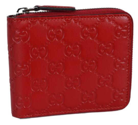 Preload https://img-static.tradesy.com/item/23926384/gucci-red-new-473964-leather-gg-guccissima-zip-around-small-wallet-0-1-540-540.jpg