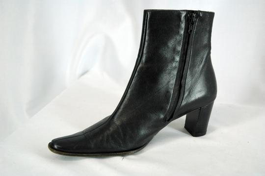 Robert Clergerie Leather Square Toe Ankle High Soft Leather Black Boots