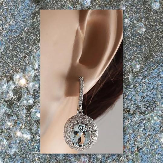 Other New Aquamarine 925 Silver Earrings