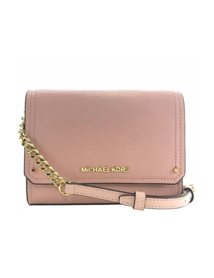 1be7cd40a19b35 Michael Kors Clutch Hayes Small Convertible Pink Leather Cross Body Bag