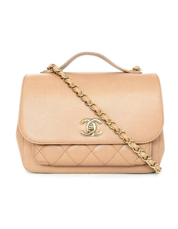 63b8214981a9 Chanel Caviar Quilted Small Business Affinity Camel Leather Cross Body Bag