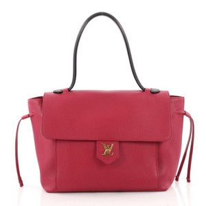Louis Vuitton Leather Satchel in pink