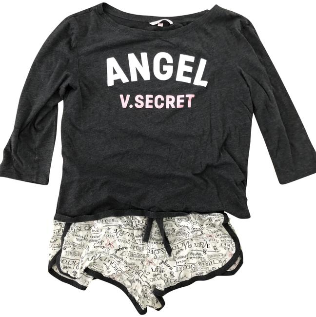 Preload https://img-static.tradesy.com/item/23926532/victoria-s-secret-grey-sleepwear-set-tee-shirt-size-4-s-0-1-650-650.jpg