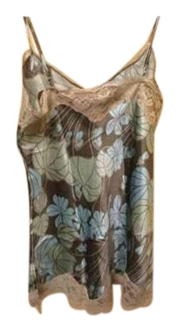 Preload https://img-static.tradesy.com/item/23926597/new-york-and-company-blue-and-brown-women-s-silk-camisole-tank-topcami-size-4-s-0-1-650-650.jpg