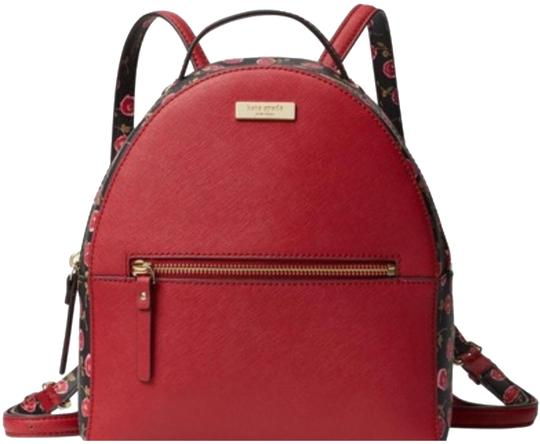 Preload https://img-static.tradesy.com/item/23926638/kate-spade-hazy-rose-sammi-laurel-way-rooster-red-leather-backpack-0-2-540-540.jpg