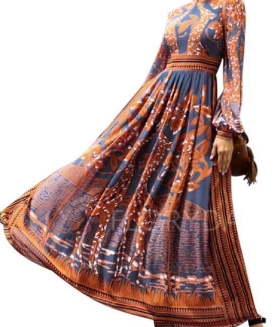 Preload https://img-static.tradesy.com/item/23926654/orange-chiffon-floral-sleeve-a-line-long-casual-maxi-dress-size-2-xs-0-1-650-650.jpg