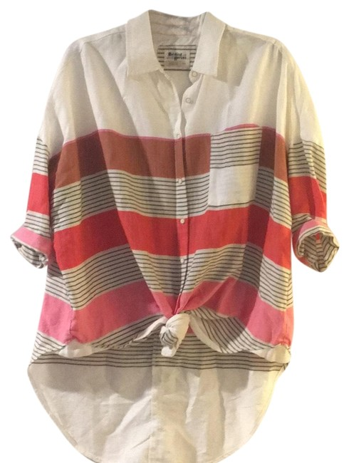Preload https://img-static.tradesy.com/item/23926655/holding-horses-multicolor-cotton-striped-blouse-button-down-top-size-2-xs-0-1-650-650.jpg