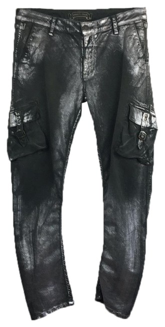 Preload https://img-static.tradesy.com/item/23926699/robin-s-jean-army-green-distressed-cargo-pant-silver-paint-straight-leg-jeans-size-12-l-32-33-0-1-650-650.jpg