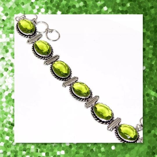 Other New 925 Silver Peridot Bracelet 8.5