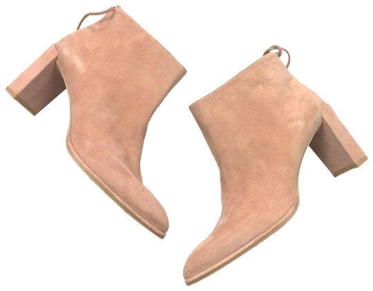 Stuart Weitzman Pink The Lofty Suede Leather Peach Boots/Booties Size US 7.5 Regular (M, B) Image 0