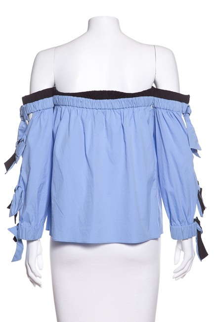 MILLY Top Blue & Black
