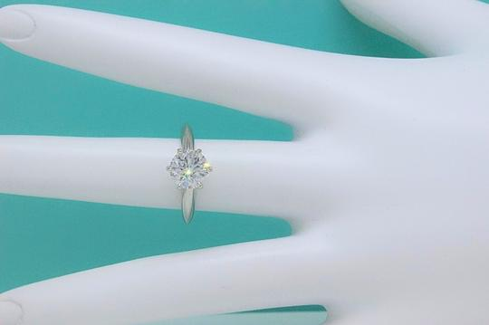 Tiffany & Co. G Diamond Round 1.33cts Vvs Papers Plat Box Engagement Ring
