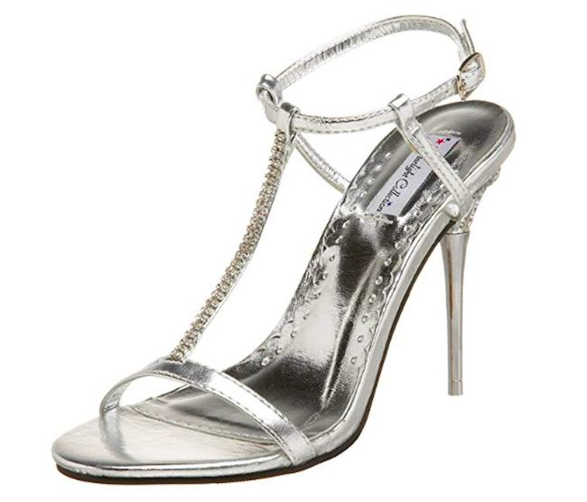 Item - Silver Greta New Starlight Collection Heels Rhinestone Formal Shoes Size US 7 Regular (M, B)