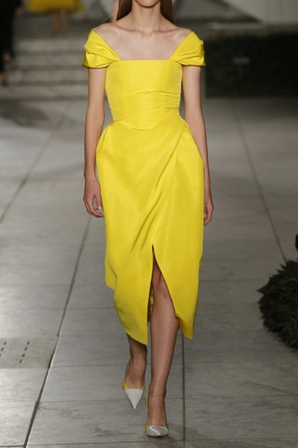 Carolina Herrera Bright Standout Off-the-shoulder Dress