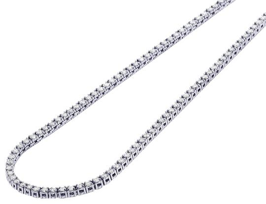 Preload https://img-static.tradesy.com/item/23926831/jewelry-unlimited-10k-white-gold-mens-1-row-diamond-chain-chocker-tennis-18-necklace-0-1-540-540.jpg