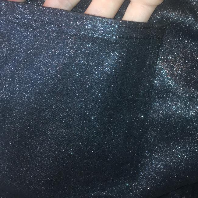Paige Sparkle Glitter Coated Straight Pants black and copper