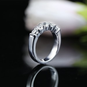 14 K White Gold Classic Half-way Band Ring