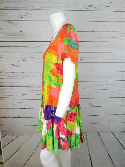 Jams World short dress MULTI COLOR Rayon Tunic Tiered Floral on Tradesy